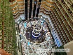Фотогалерея Ambassador City Jomtien Ocean Wing: вид на ресторан на нулевом этаже корпуса Океан Винг с верхнего этажа