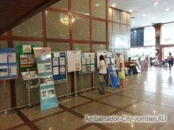 Фотогалерея Ambassador City Marina Tower Wing 3*: информационные стенды различных туристических операторов с информацией о гидах и отъезде