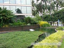 Фотогалерея Ambassador City Marina Tower Wing 3*:вид на клумбу со стороны входа в отель