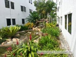 Фотогалерея отеля Ambassador City Inn Wing 2*: ландшафтный дизайн между корпусами