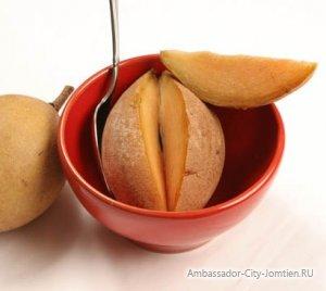 Экзотический фрукт Тайланда саподилла