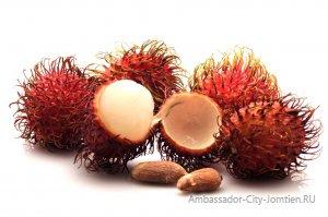 Экзотический фрукт рамбутан