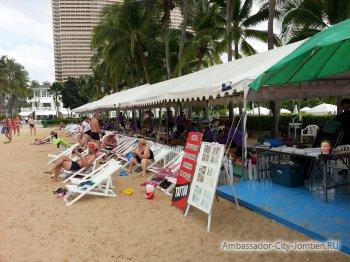 Массаж на пляже (Jomtien beach, Pattaya)