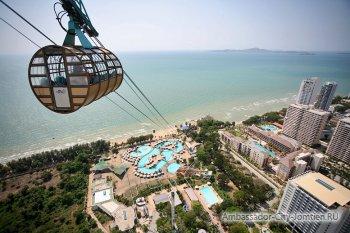 Вид на пляж у отеля Pattaya Park
