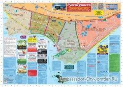 Маршруты тук-туков в Паттайе на карте