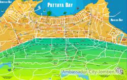 Достопримечательности, торговые центры, развлечения на карте Паттайи
