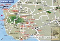 Холм Будды на карте Паттайи