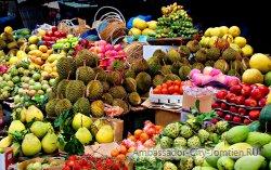 Рынок фруктов в Бангкоке на карте