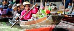 лавучий рынок в Бангкоке
