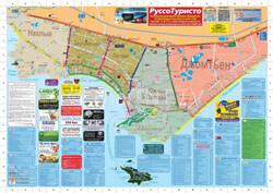 Карта Паттайи на русском (торговые центры, рынки, достопримечательности)